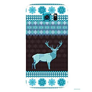 Back cover for Samsung Galaxy S6 Edge Winter Deer