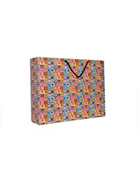 A&A Printed Paper Bag (Pack Of 10) Size- 13 * 17 * 4 Inch