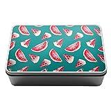 Aquarell Wassermelone Yummy Metall Aufbewahrungsdose Box 100