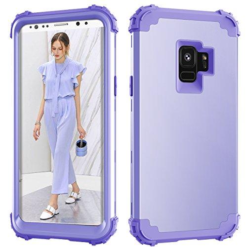 Samsung Galaxy S9Fall, Daker Drei Layer stoßfest Hybrid High Impact Hard Kunststoff + Weich Silikon Gummi Armor Full Body Schutz Best Fällen für Galaxy S92018Release, Lavendel