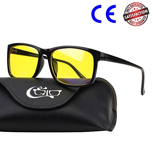 CGID CY12 Occhiali Luce Blu Occhiali per Blocco Luce Azzurra, Anti Riflesso Anti Affaticamento...