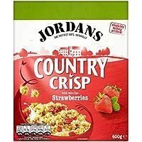 Jordan País quebradizo con Sun-fresas maduras 400g (paquete de 6 x 400 g)