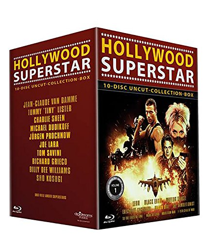Hollywood Superstar Uncut-Collection 10er-Box (Leon - Black Eagle - Moving Target - Executive Command - Crash Dive - The Demolitionist - To the End´s ... - Hologram Man - F-117 Stealth War) [Blu-ray] (Executive-box)