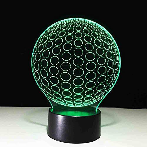 GZGNL 3d led golf ball nachtlicht usb weihnachten stimmung lampe kinder schlafzimmer 7 farben ändern schreibtisch beleuchtung für zuhause dekorative schlaf lampe -