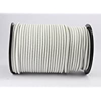8 MM WIRE ROPE ELASTIC ROPE - Expander Rope White 20 m Shock Cord of 8 by monoflex