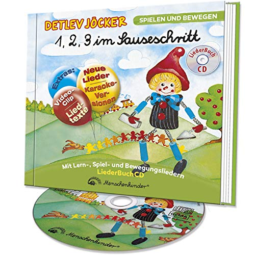 1, 2, 3 im Sauseschritt - Die LiederBuchCD