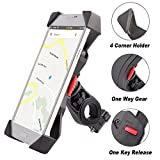 Bike Mount Phone Holder Grefay Universal Bicycle/ Motorcycle Cell Phone Holder Smartphone Cradle Clamp 360 Rotatable for iPhone 7/7+/6/6+/6S/6S+/5S/5C, Samsung Galaxy S3/S4/S5/S6/S7/S8 Note 3/4/5,Nexus,HTC,LG & GPS Devices GPS Other Devices
