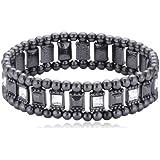 Pilgrim Jewelry Damen-Armband Messing Pilgrim Damen-Armband aus der Serie Classic hematite beschichtet,weiß 17.0 cm 601333082