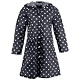 Pink Flamingo Women's Blue Polka Raincoat for Women