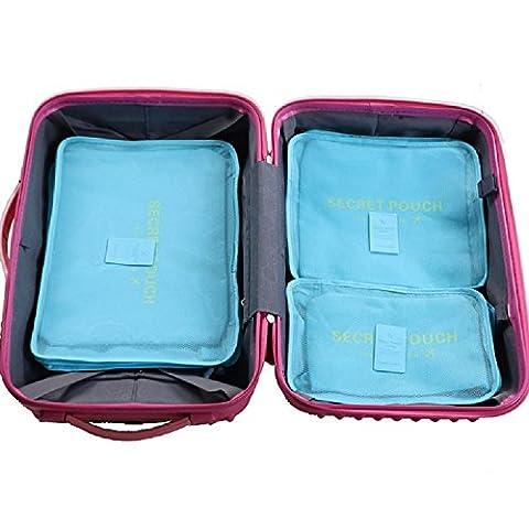 K&C Accessoires de voyage Organisateurs Voyage emballage Organisateurs u bleu. Sac de compression pour ensemble (Re Sacco A Pelo)