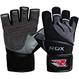 RDX Leather Men's Gym Weight Lifting Gloves Cross Training Bodybuilding Fitness Workout