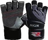 RDX-Gel Gewichtheben Bodybuilding Handschuhe Fitness Band Schulung Leder Schulung Gr.