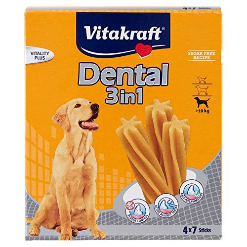 Vitakraft Cura Dentale Snack per Cani Multipack Dental 3in 1Sticks