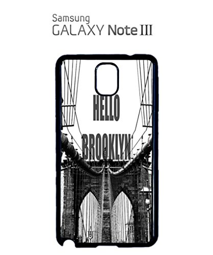 Hello Brooklyn New York Mobile Cell Phone Case Samsung Galaxy S5 Black Blanc