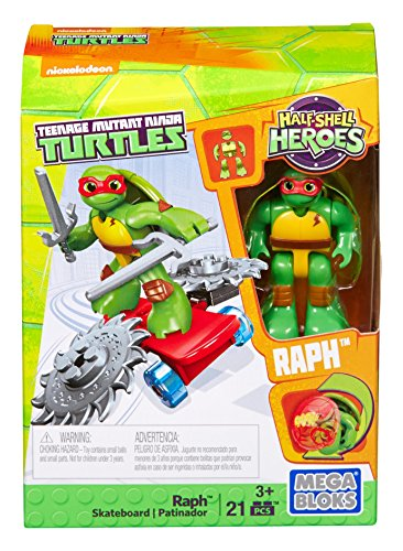 Mega Bloks - Teenage Mutant Ninja Turtles Half Shell Heroes - Raph Skateboard (Dmw39)