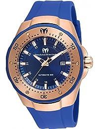 TECHNOMARINE MEN'S MANTA 48MM BLUE SILICONE BAND AUTOMATIC WATCH TM-215087