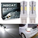 ngcat Auto-LED Leuchtmittel 27444NA 74407440verchromt NA Halogenlampe 992T20283521SMD Chipsätze LED Leuchtmittel mit Objektiv Projektor Bremse Drehen Signal Schwanz Backup Reverse Lampen, Xenon Weiss, 10–16V 10,5W