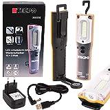 TECPO 300550 - Lampada da officina, 1000 lumen, 27 LED SMD, 10 + 3 Watt, 6500 Kelvin, IP 54, lampada da lavoro