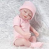 Simulation Puppe 28 cm Weichkörper-Babypuppe ohne Haare, mit Mütze, Schlafaugen, Spielzeug für Mädchen ab 18 Monaten