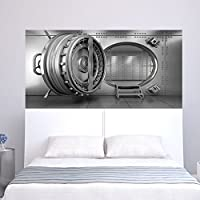 wassaw Imitation 3d Bank Vault Bedside Sticker Wall Sticker Personalized Home Decorative Wall Sticker Simple Romantic Waterproof Home Sticker