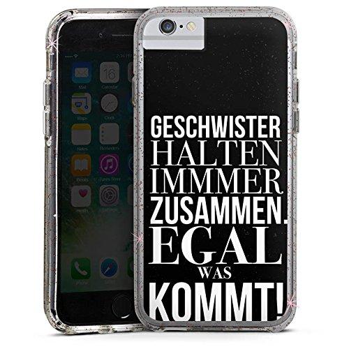 Apple iPhone 8 Bumper Hülle Bumper Case Glitzer Hülle Geschwister Sister Schwester Bumper Case Glitzer rose gold