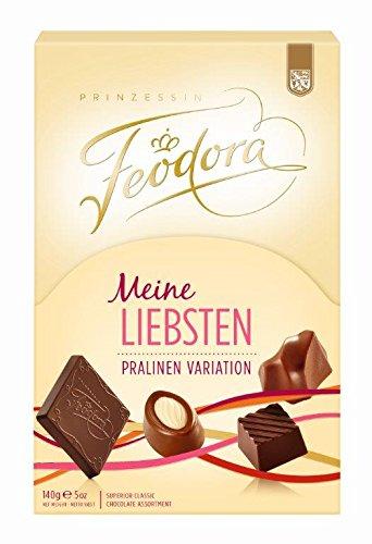 Feodora Meine Liebsten Pralinen Variation, 2er Pack (2 x 140 g) - Geschenk Gourmet Edelbitter-schokolade