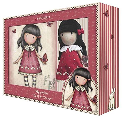 Gorjuss Geschenkset Puppe und Leinwand (Cyp Brands CK-12F-G) -