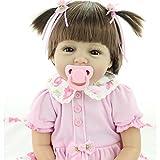 NPK Handgemachte Baby Puppen 22 'Weiche Silikon Vinyl Wiedergeborene Baby Puppen, die Reales Neugeborenes Baby Spielzeug Geschenk Schauen Reborn Baby Doll