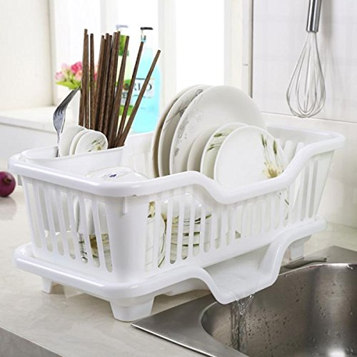 Panzl Large Sink Set Dish Rack Drainer Multi-Function creative dish racks Washing Holder Basket Organizer With Tray For kitchen
