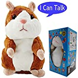 Plush Interactive Toys PRO Talking Hamster Repeats What You Say Electronic Pet Chatimals Mouse Buddy For Boy And Girl, 5.7 X 3 Inches
