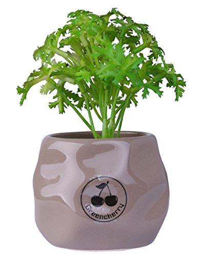 greencherrytm-34-inch-round-ceramic-textured-succulent-garden-planter-container-pots-gray
