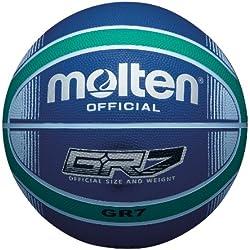 Molten Ballon de Basket Bleu/Vert Taille 6