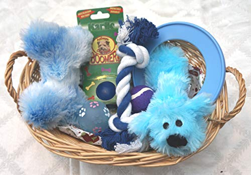 Paradise Pets PUPPIES FIRST CHRISTMAS WRAPPED DOG TOY GIFT HAMPER FOR HIM