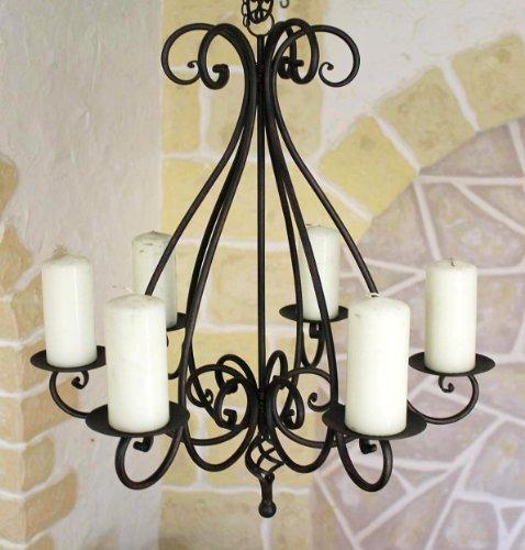 lampadario a corona 95230 porta candele alt 60cm porta candele con fissaggio in metallo. Black Bedroom Furniture Sets. Home Design Ideas