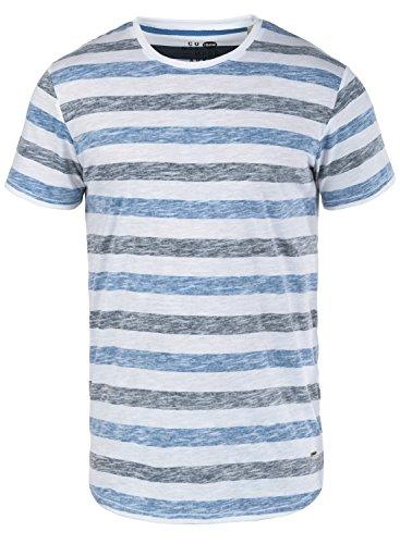 Und Schwarz Shirt Weiß Gestreiften Kostüm - !Solid Tet Herren T-Shirt Kurzarm Shirt mit Streifen und Rundhalsausschnitt, Größe:XL, Farbe:Strong Blue (1531)