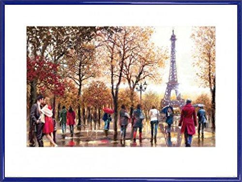 Paris Poster Kunstdruck und Kunststoff-Rahmen - Eiffel Tower, Richard MacNeil (80 x 60cm)