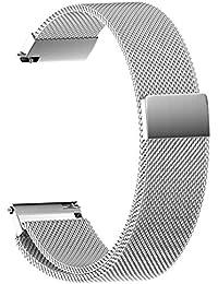 MISSWongg_Correa de reloj - Acero Inoxidable - Bucle magnético milanés 22/20/18/