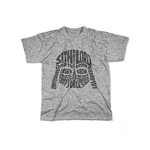 rt mit Aufdruck in Grau Gr. XL Sith Lord Evil Mask Design Boy Top Jungen Shirt Herren Basic 100% Baumwolle Kurzarm (Sith-lord-outfit)