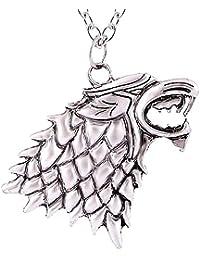 Inception Pro Infinite Metalwolf House Stark Collier - Trône de Fer - Trône de Fer - Jon Snow Haute Qualité