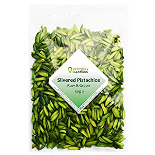 Pistachio Nuts Chopped (Pistachio Slivers) Raw Unsalted Pistachio Kernels Slivered Ideal for Desserts, Cakes & Pudding Decorations