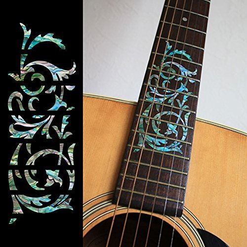 palissandre-incrustation-marqueurs-sticker-decals-sticker-pour-guitare-motif-ornemental-swirl-mix