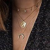 XINGXX Schmuck Multi Layer Blume Blatt Palm Cross Herz Form Halsketten & Anhänger Für Frauen Trendigen Charme Gold NX-159-17