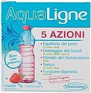 AQUALIGNE 5 AZIONI Vitarmonyl • Integratore 20 bustine • 5 azioni combinate: drenante, equilibrio del peso, me