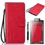 SsHhUu Sony Xperia Z3 Hülle, Stylish [Dandelion Embossing] Magnetisch Stehen Card Slot PU Leather Flip Schutz- Beutel Slim Schutzhülle Schale Tasche Case + Stylus Pen für Sony Xperia Z3 (5.2