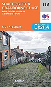 OS Explorer Map (118) Shaftesbury, Cranbourne Chase, Poole, Wimbourne Minster and Blandford