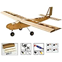 Price comparsion for DW Hobby Balsa Wood Model Aircraft, Electric Control and Gas Power RC Plane Trainer for Beginners, DIY Electronics 4CH Remote Control Airplane Toys for Adults Super Easy to Fly
