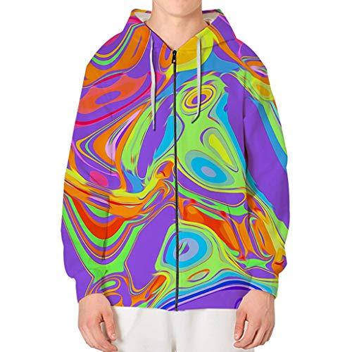 Hoodies Tops Bedrucktes Langarm-Sweatshirt mit Kordelzug und Pullunder-Blusentops von Pocket ☆Elecenty☆ -