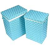 Wäschekorb Aqua Korbset Aufbewahrungsbox 2 Stück