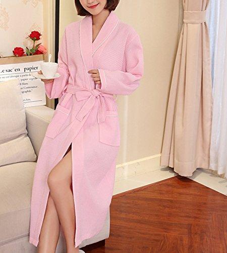 365Shopping Unisex Waffel Weave Dressing Kleid Baumwolle leichte ...