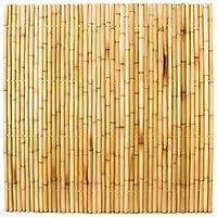 bambuszaun 180x180cm gelb gebleicht starr mittels moso bambusrohren mit 3 5 bis 4cm verbunden